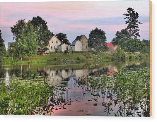 Union River Sunset  Wood Print