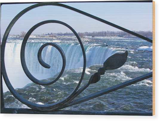 Wood Print featuring the photograph Unique Niagara Falls by Rosemary Legge