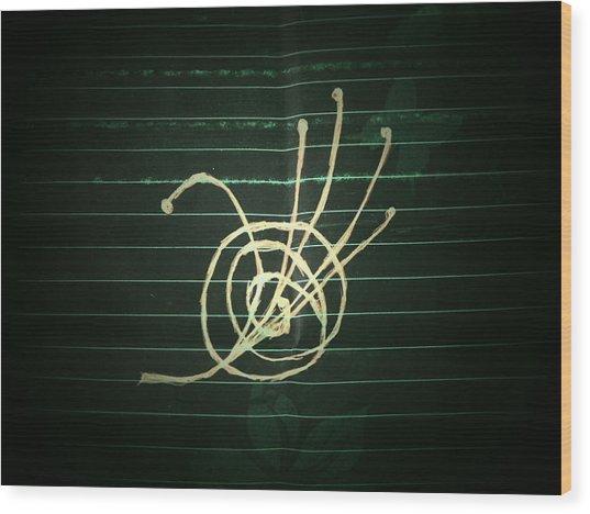 Universal Domination Wood Print by Coin Iruebenebe