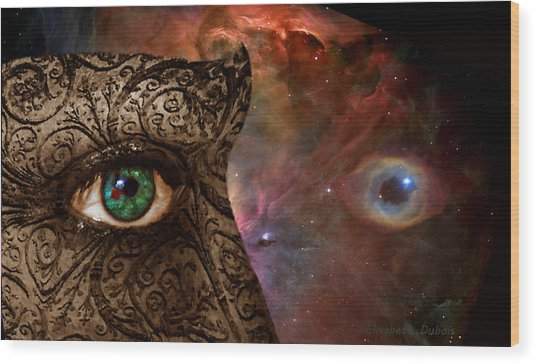 Universal Eyes Wood Print