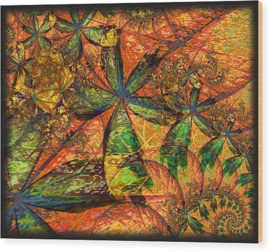 Unleashed Wood Print by Kim Redd