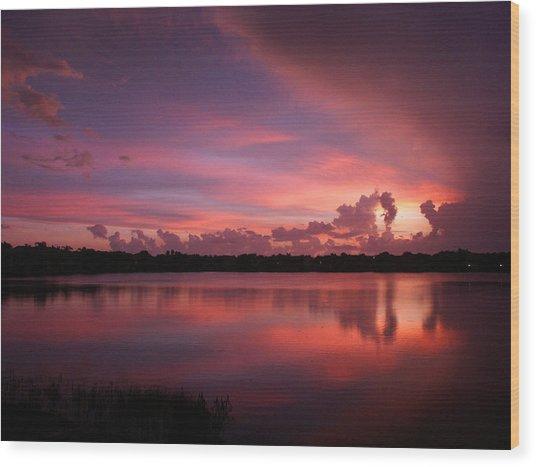 Untitled Sunset-1 Wood Print