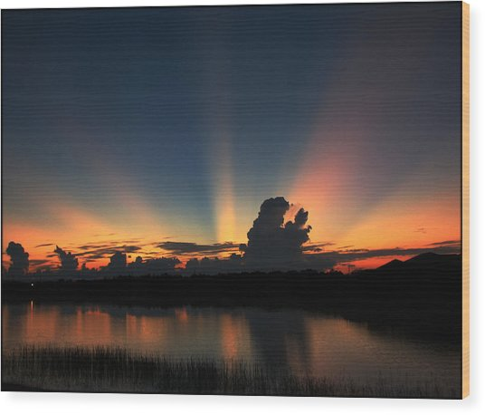 Untitled Sunset-14 Wood Print
