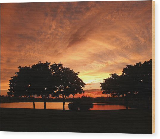 Untitled Sunset-19 Wood Print