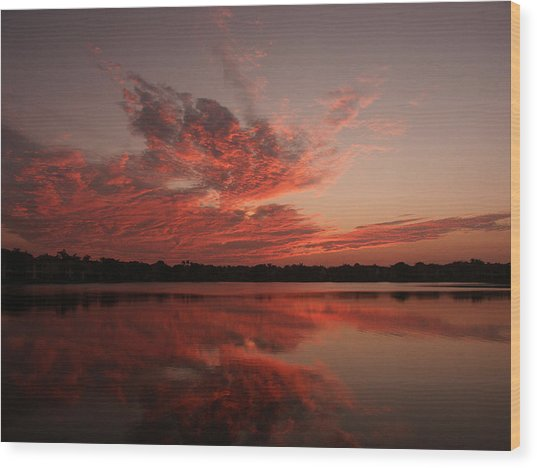 Untitled Sunset-9 Wood Print