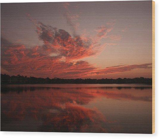 Untitled Sunset-9 Wood Print