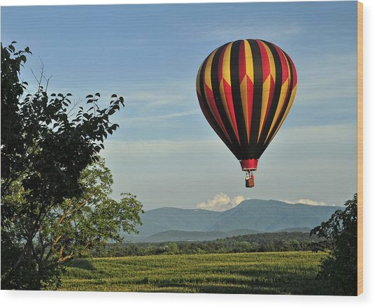 Up Up And Away Blueridge 2 Wood Print