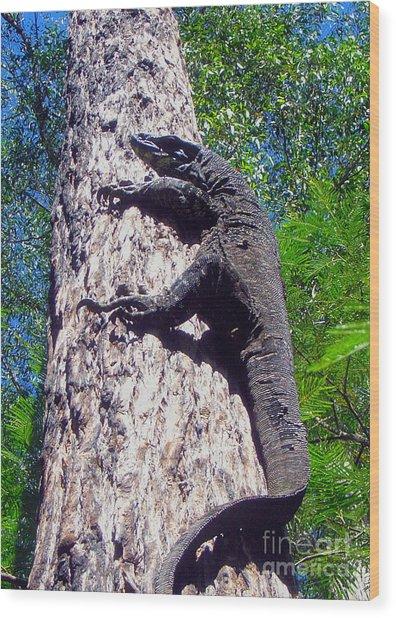 Up Ya Go Wood Print by Joanne Kocwin