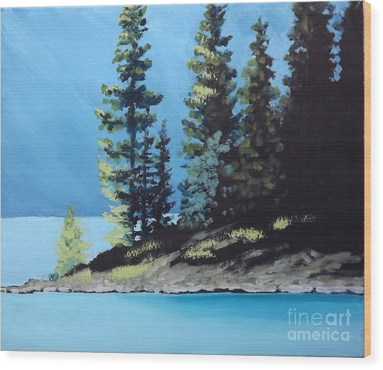 Upper Kananaskis Lake Wood Print