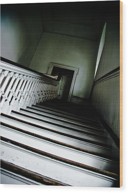 Upstairs Wood Print