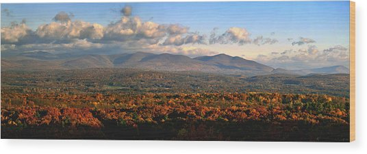 Upstate Ny Panorama Wood Print