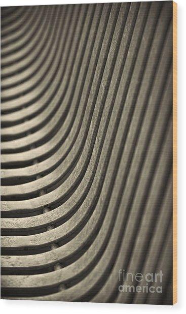 Upward Curve. Wood Print