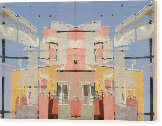 Urban Abstract San Diego Wood Print by Carol Leigh