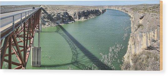 Us 90 Bridge Over Pecos River Wood Print