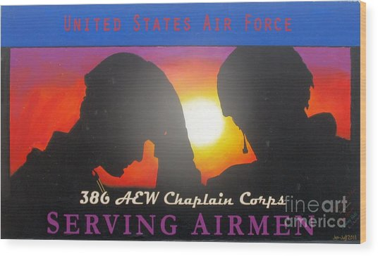 Usaf - Chaplain Corps Wood Print by Unknown