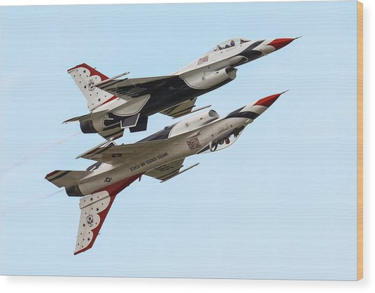 Usaf Thunderbirds Display Pair Wood Print