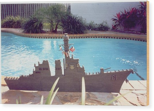 Uss Ramage Wood Print