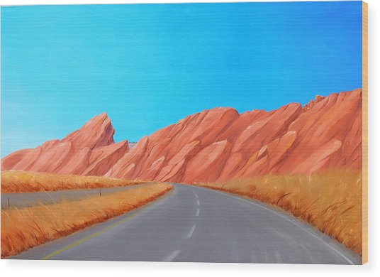 Utah Westbound Wood Print