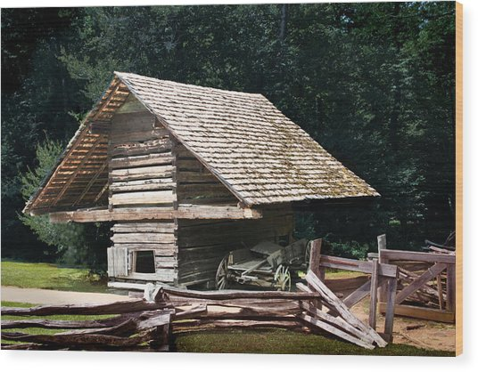 Utility And Strength Wood Print by Barry Jones