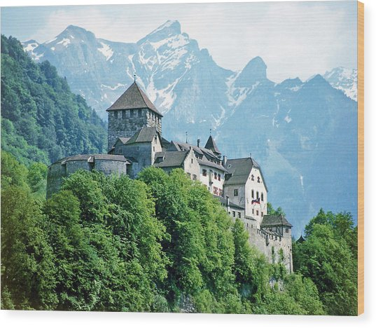 Vaduz Castle Lichtenstein Wood Print