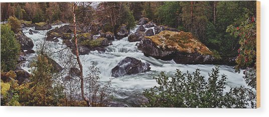 Valdolla River Wood Print by A A