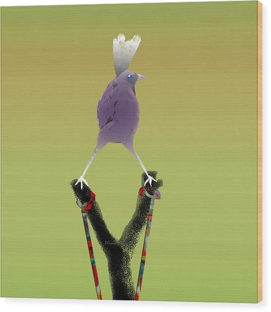 Valiant Bird Wood Print
