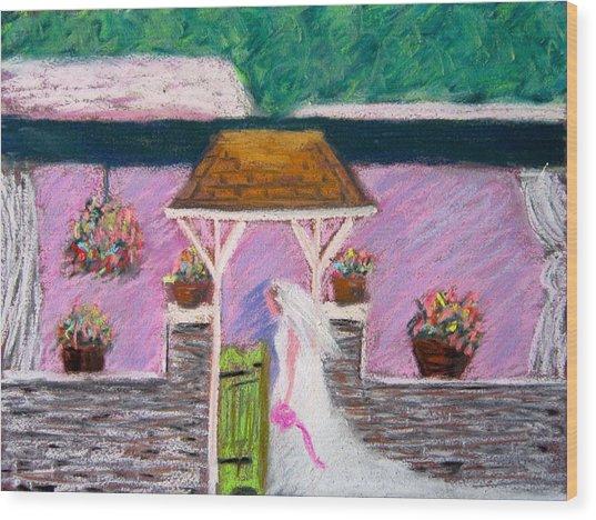 Valley Green Bride Wood Print by Marita McVeigh