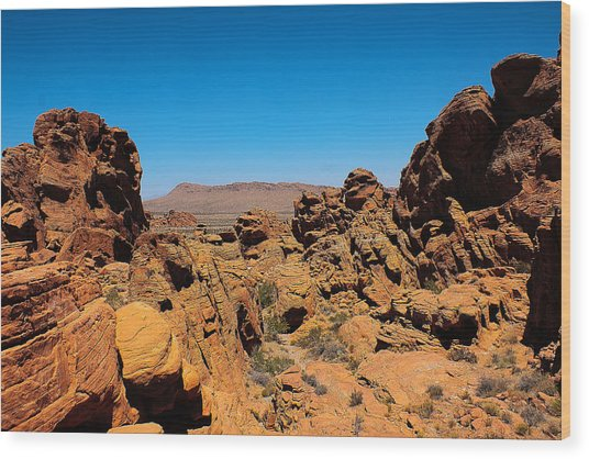 Valley Of Fire Wood Print by Ryan Baxter