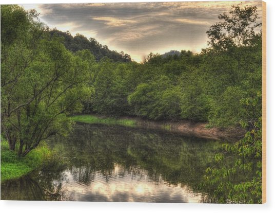 Valley River Wood Print