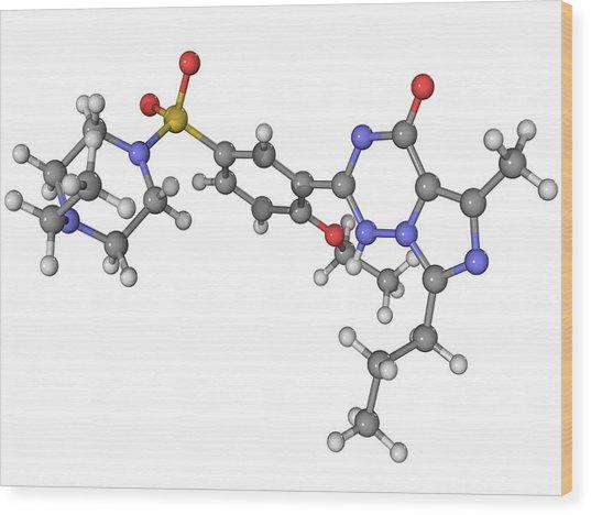 Vardenafil Erectile Dysfunction Drug Wood Print by Laguna Design