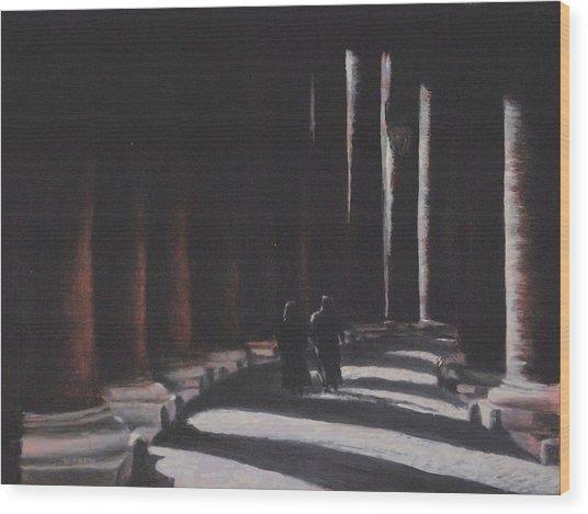 Vatican Contemplation Wood Print