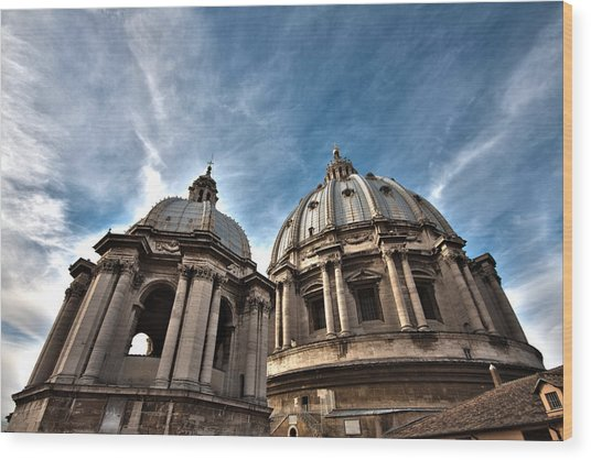 Vatican Dome Wood Print