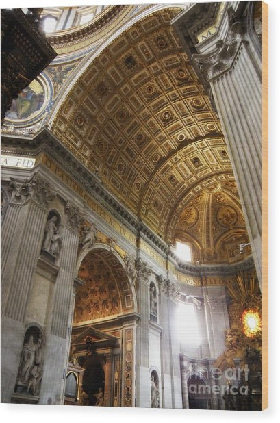 Vatican Light Wood Print