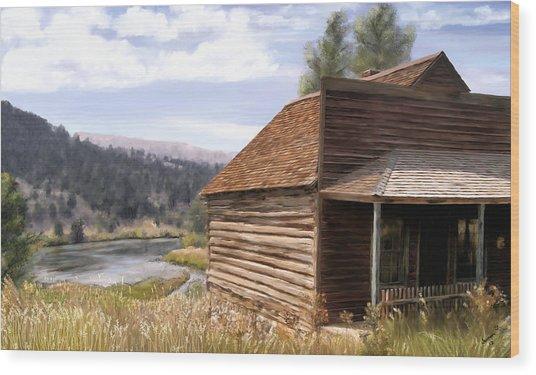 Vc Backyard Wood Print