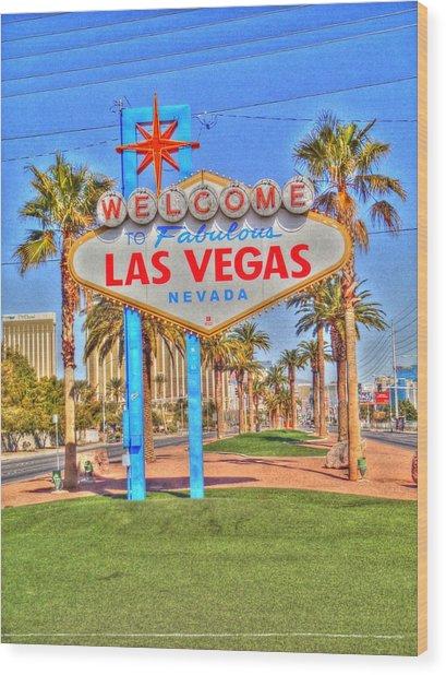 Vegas Wood Print by Barry R Jones Jr