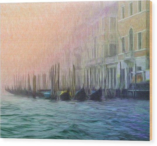 Venetian Gondolas Wood Print