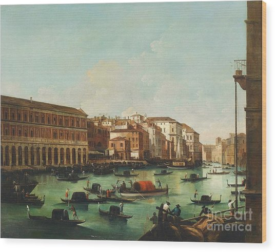 Venice Grand Canal Wood Print by Pg Reproductions