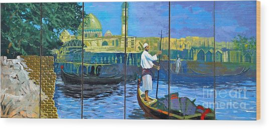 Venice Of The Middle East Wood Print by Unknown - Local Iraqi National