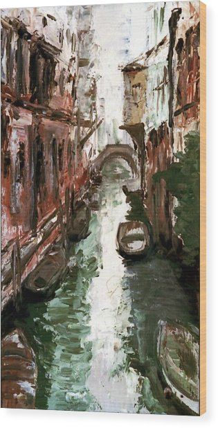 Venice Wood Print by Sophie Brunet
