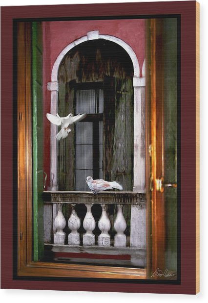 Venice Window Wood Print