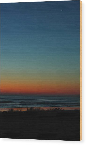 Venus And Atlantic Before Sunrise Wood Print