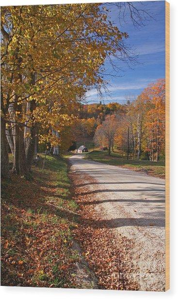 Vermont Sugar House Wood Print