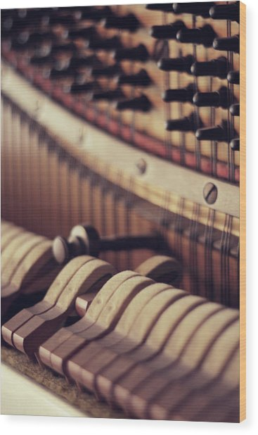 Vertical Piano Wood Print by Isabelle Lafrance Photography