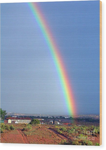 Very Bright Arizona Rainbow Wood Print by Merton Allen