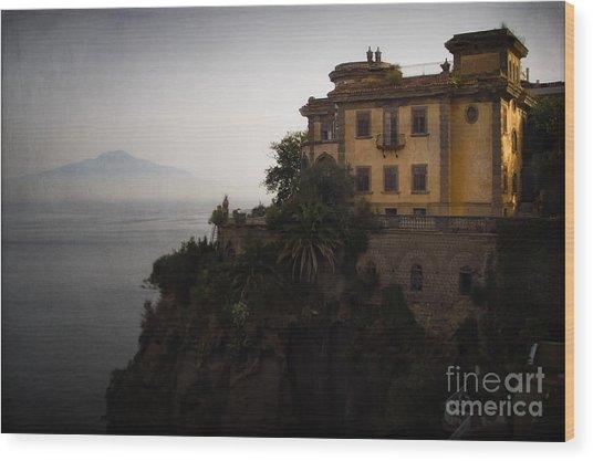 Vesuvius From Sorrento Wood Print