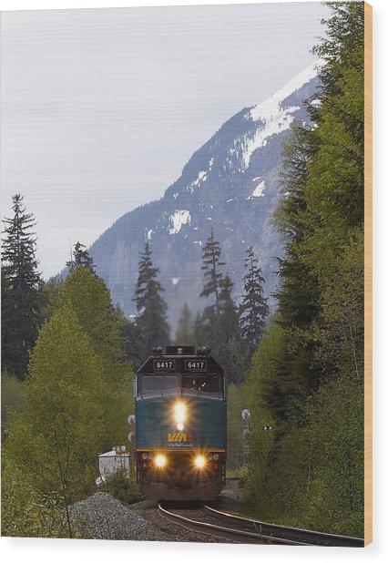 Via Rail Canada Wood Print