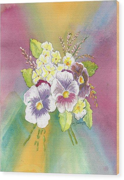 Vibrant Panseys Wood Print
