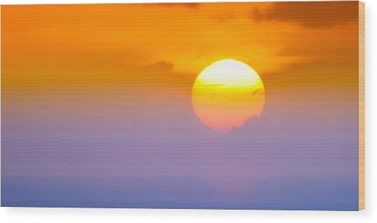 Vibrant Sunset Wood Print
