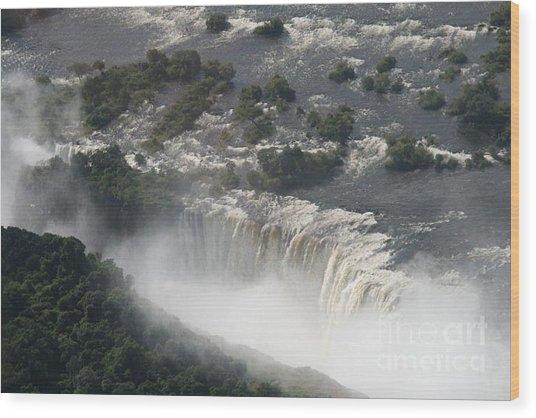 Victoria Falls Zambia Wood Print by Carol Wright