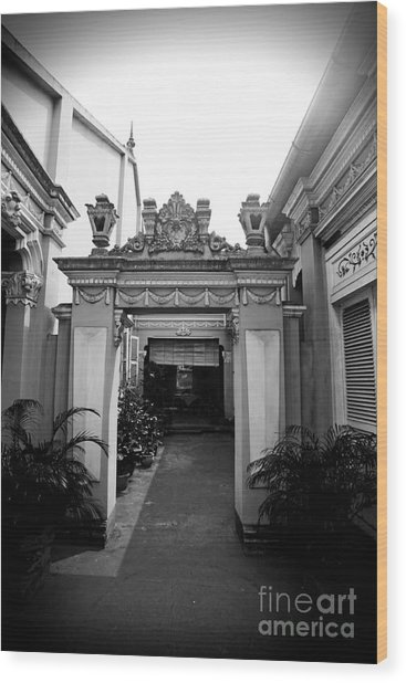 Vietnamese French Archway Wood Print